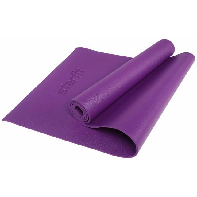 Коврик для йоги STARFIT FM-103 PVC HD 173x61x0,6 см, фиолетовый