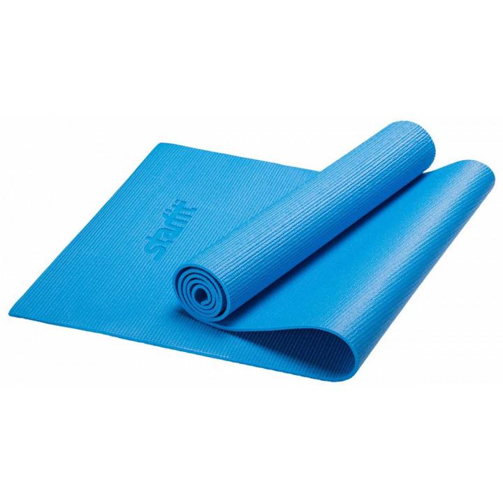 Коврик для йоги STARFIT FM-101 PVC 173x61x0,6 см, синий