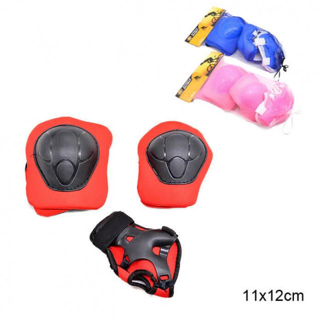 Комплект защиты Sports Helmit Maxi розовый S