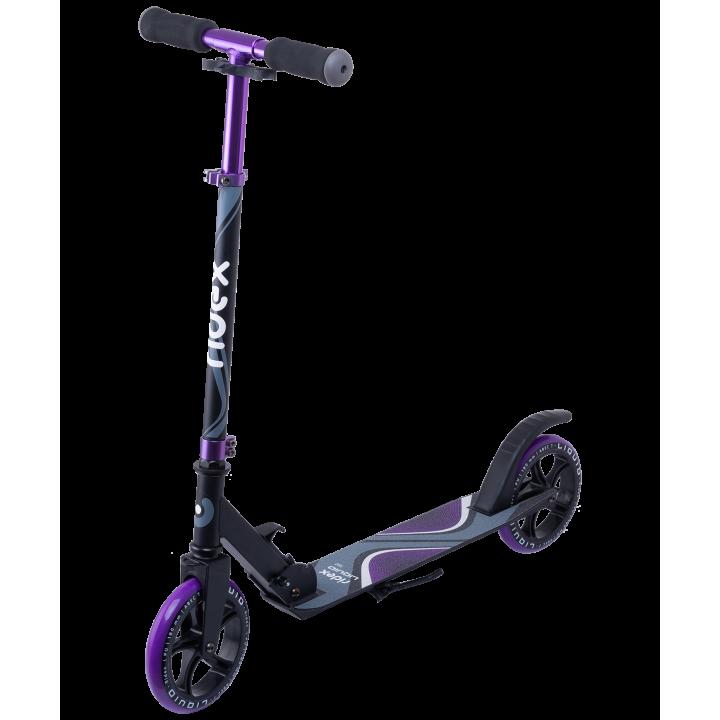 Городской самокат Ridex Liquid 180 черный/фиолетовый
