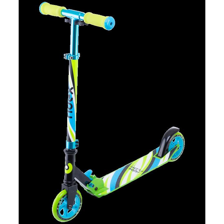 Городской самокат Ridex Flow 125 голубой/зеленый
