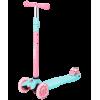 Трёхколёсный самокат Ridex Snappy 2.0 3D детский мятный/розовый со светящимися колёсами
