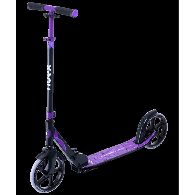 Городской самокат Ridex Marvellous 200 черный/фиолетовый