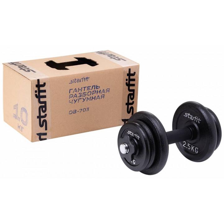 Гантель разборная чугунная в коробке STARFIT DB-713 10 кг