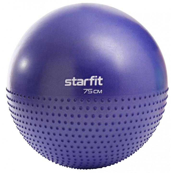 Фитбол полумассажный STARFIT Core GB-201 75 см, антивзрыв, темно-синий