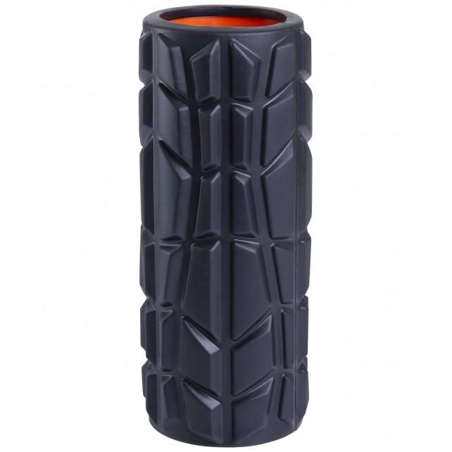 Ролик массажный STARFIT FA-509, 33x13,5 cм, высокая жесткость, черный/оранжевый