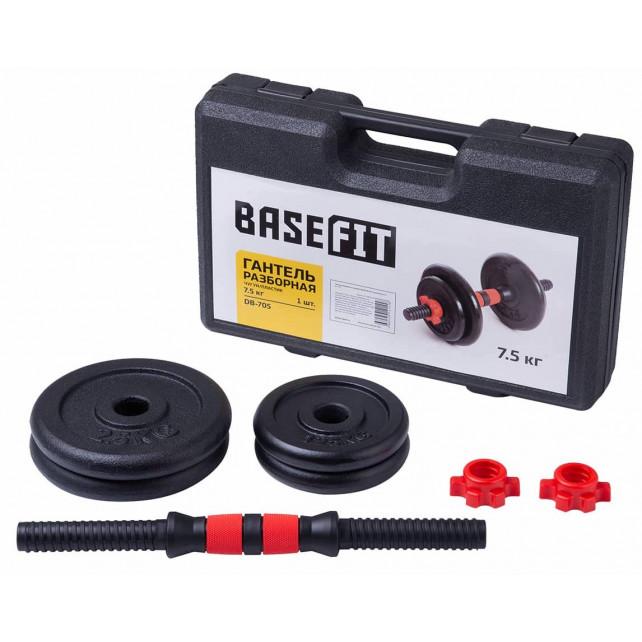Гантель разборная в чемодане Basefit DB-705 чугун/пластик, 7,5 кг, 1 шт