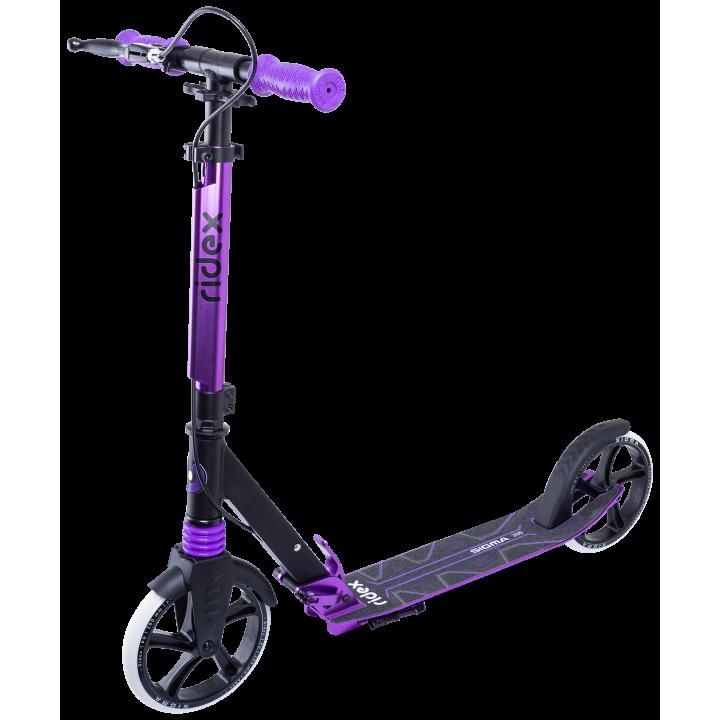 Городской самокат Ridex Sigma 200 черный/фиолетовый