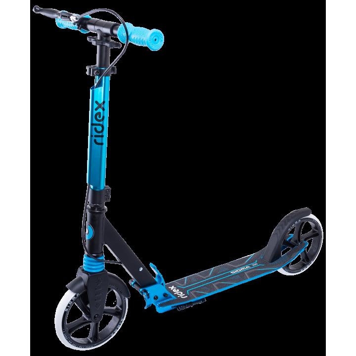 Городской самокат Ridex Sigma 200 черный/голубой