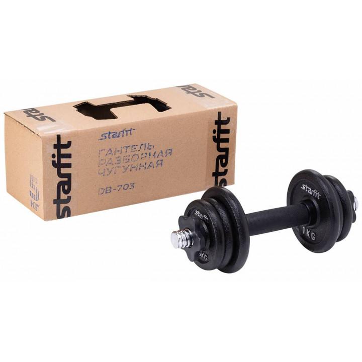 Гантель разборная чугунная в коробке STARFIT DB-713  5 кг