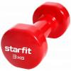 Гантель виниловая STARFIT Core DB-101 3 кг, красный