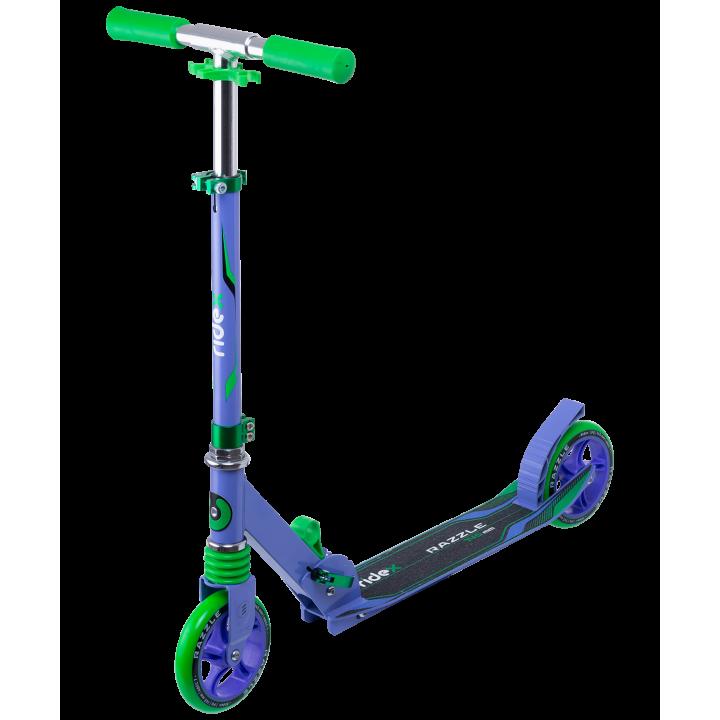 Городской самокат Ridex Razzle 145 фиолетовый/зеленый