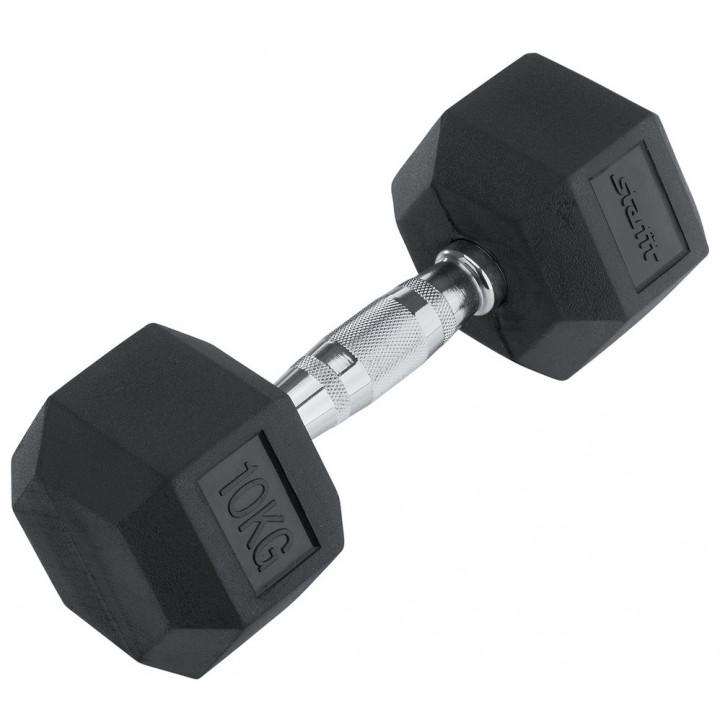 Гантель обрезиненная STARFIT DB-301 10 кг, черная