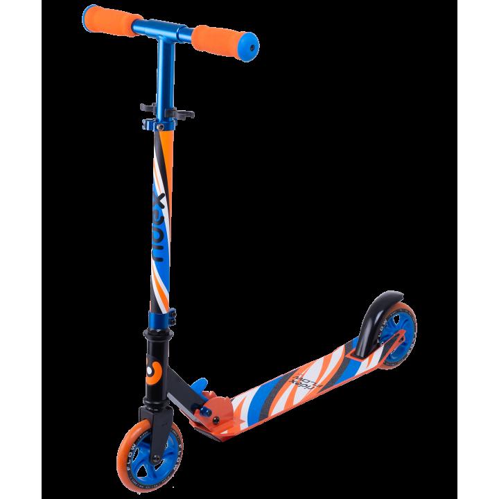 Городской самокат Ridex Flow 125 синий/оранжевый