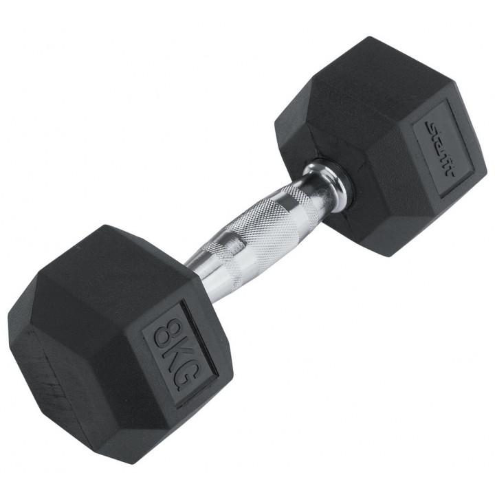 Гантель обрезиненная STARFIT DB-301  8 кг, черная