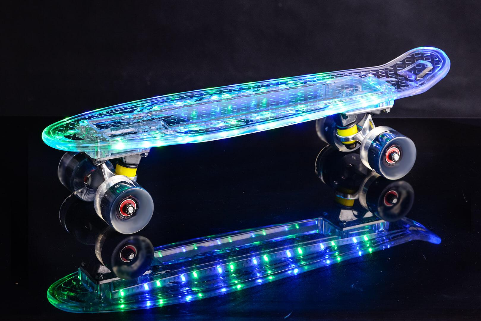 Купить пенни борд со светящимися колёсами