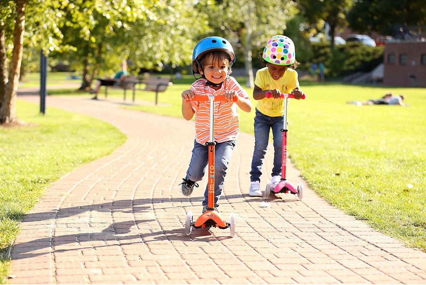 Качественный детский 3-колёсный самокат для мальчиков и девочек